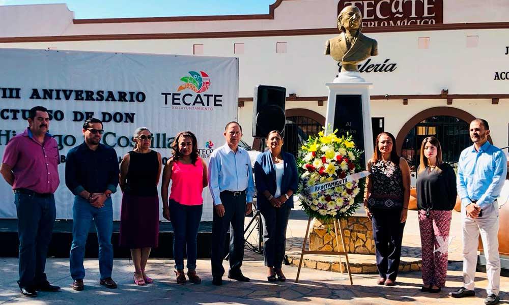 Conmemoran 208 aniversario luctuoso de Miguel Hidalgo y Costilla en Tecate