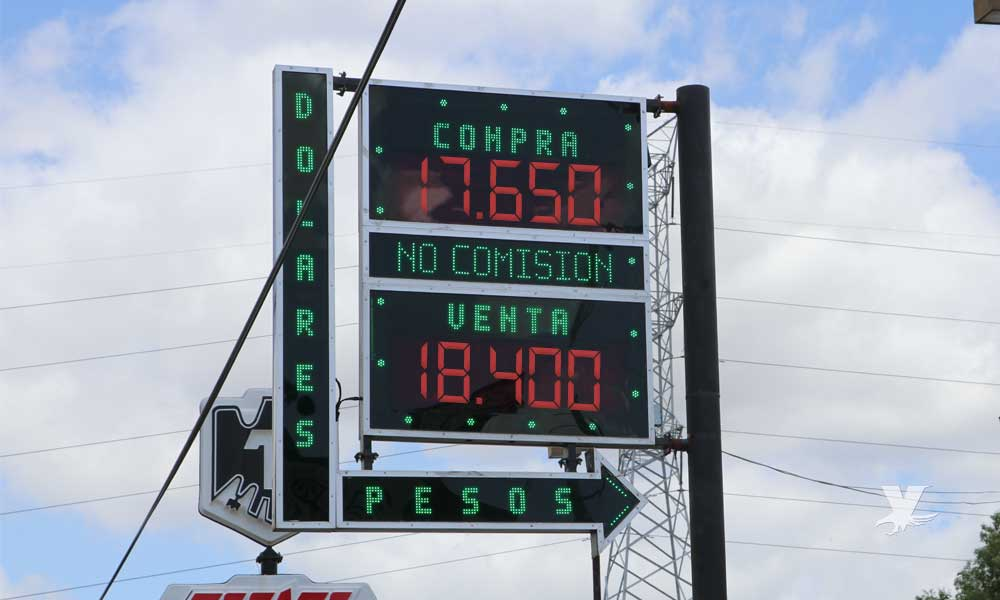 Precio del dólar en casa de cambio en Tecate