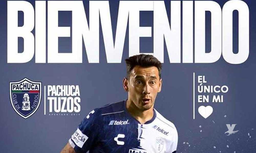 Pachuca anuncia a su nuevo refuerzo Rubens Sambueza
