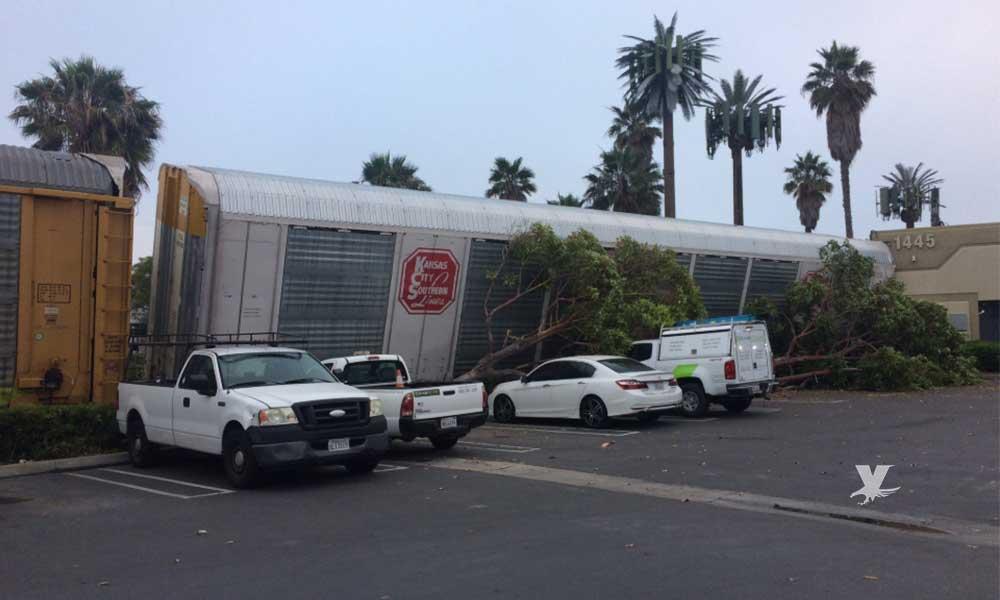 Tren se descarrila e impacta con un edificio en National City