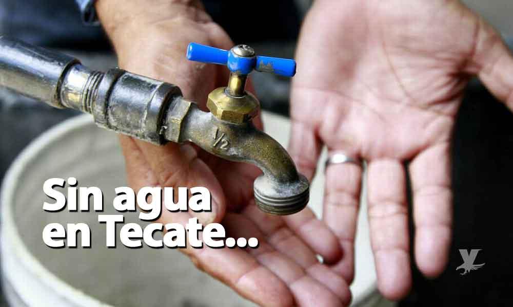 Suspensión de agua en 21 colonias de Tecate