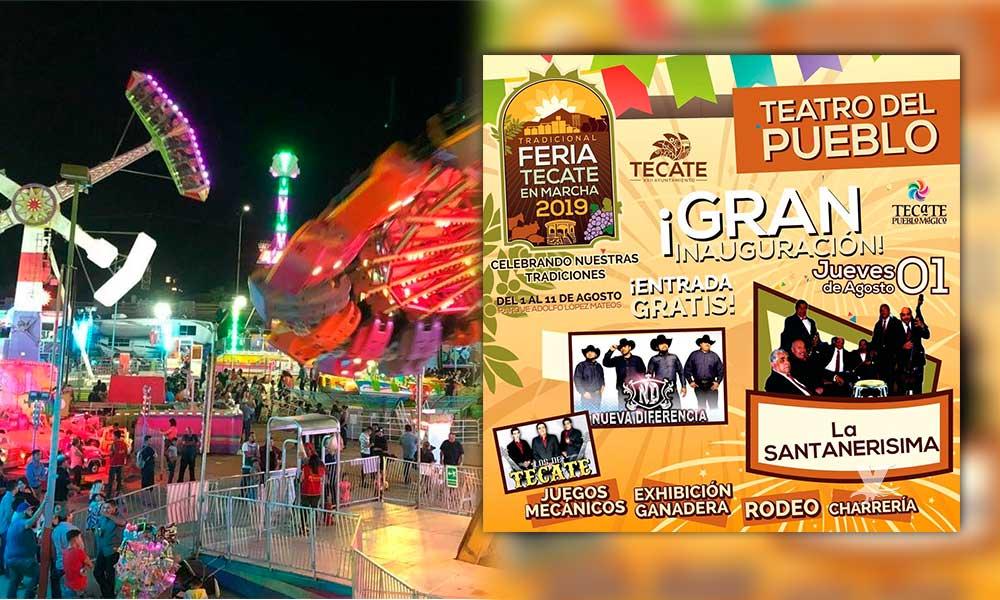 Jueves 1 de agosto gran inauguración de la Feria Tecate en Marcha 2019