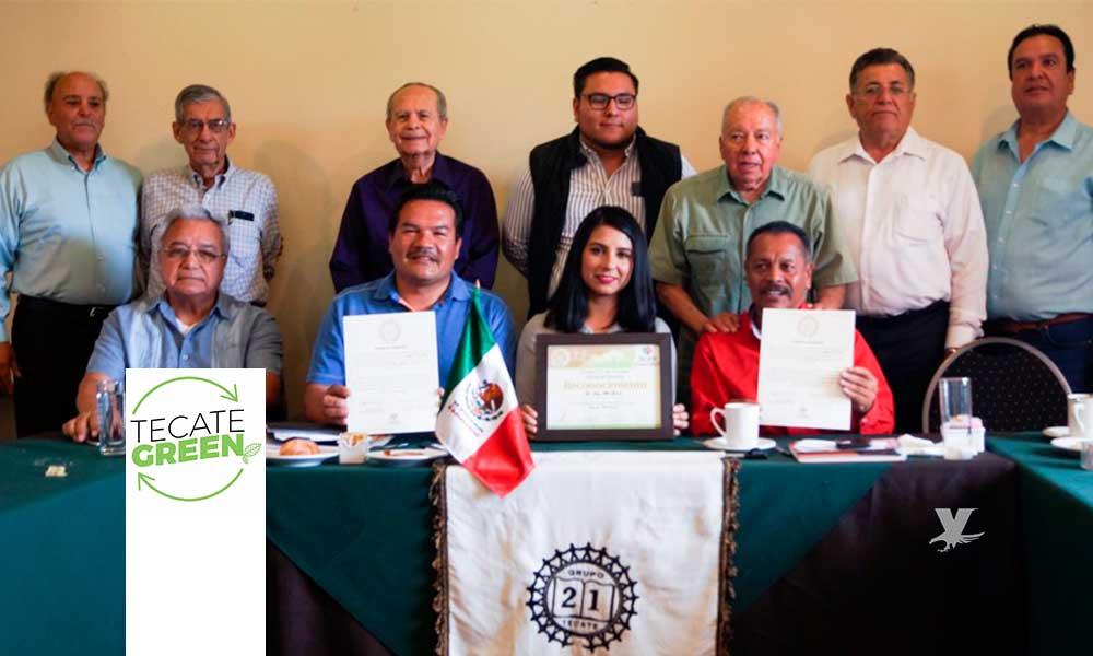Reconoce Grupo 21 trabajo de Tecate Green en favor del medio ambiente