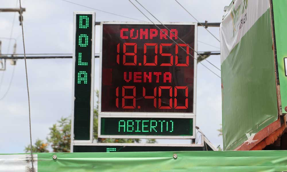 Tipo de cambio promedio en casa de cambio en Tecate