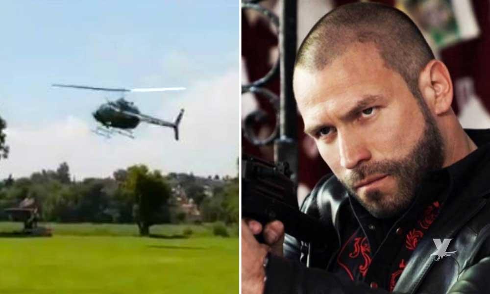 """(VIDEO) Actor de """"El Señor de Los Cielos"""" queda en coma tras caída de helicóptero"""