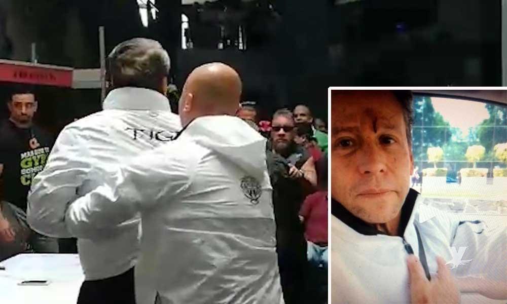 (VIDEO) Carlos Trejo le abre la frente a Alfredo Adame en la conferencia de prensa de su pelea