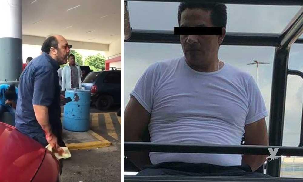(VIDEO) Hombre le entierra un cuchillo en un ojo a persona que le reclamó por ganarle el estacionamiento