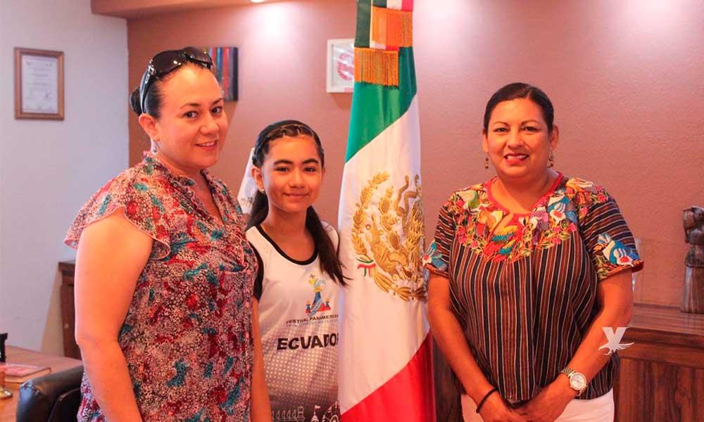 Sofía Lunar Villaman, joven Tecatense que participó en Festival Panamericano de Ecuador