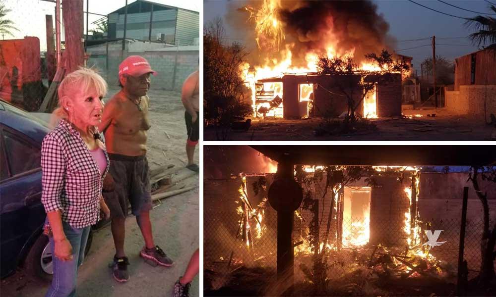 Policías salvan a adultos mayores de quedar atrapados en incendio