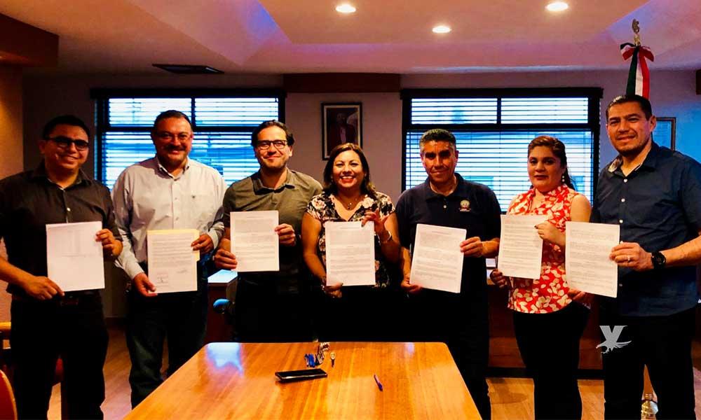 Firman acuerdo Ayuntamiento de Tecate y Sindicato de Burócratas
