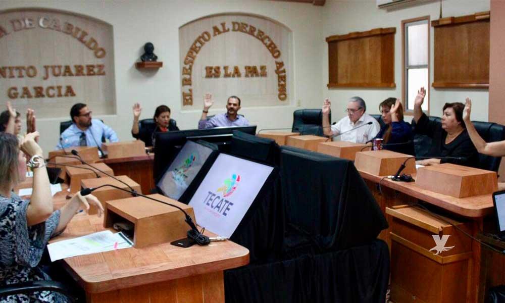 Cabildo de Tecate aprueba realizar ajustes presupuestales a algunas direcciones del Ayuntamiento
