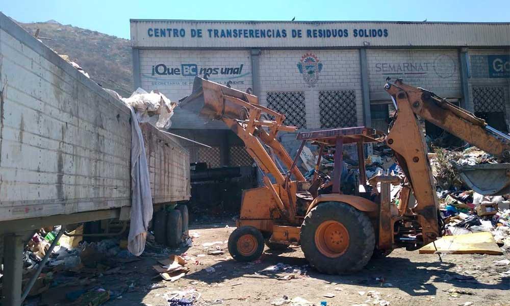Anuncian cierre parcial del Centro de Transferencias de Tecate por limpieza del lugar