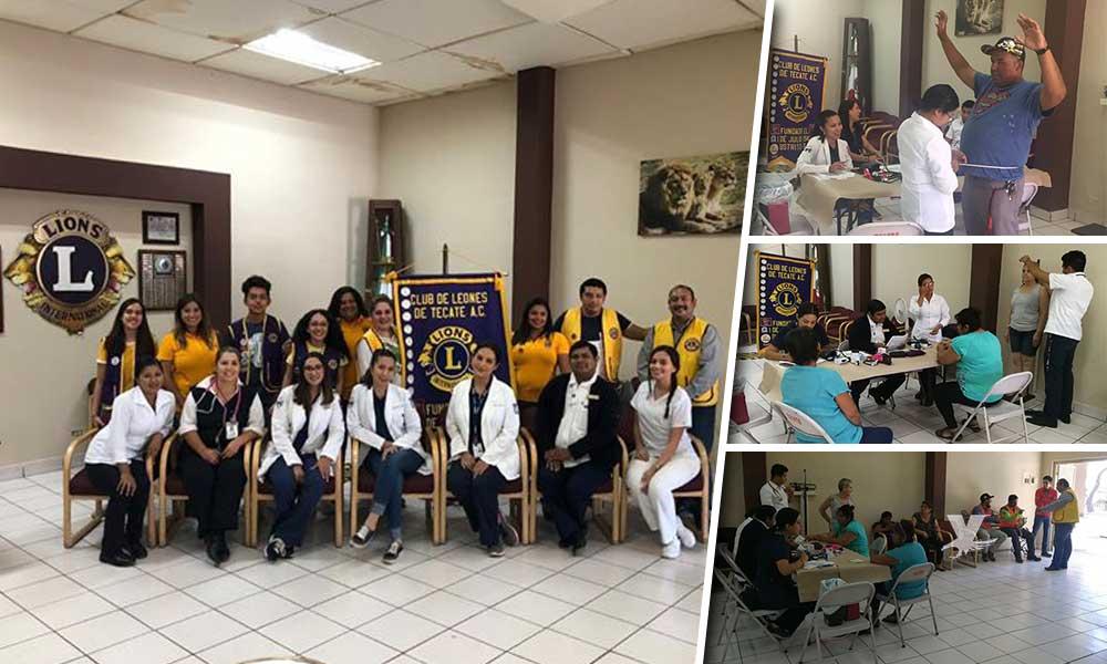 Realiza 'Club de Leones Tecate A.C.' primera Jornada Médica gratuita en Tecate