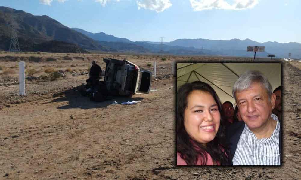 Diputada de Morena sufre accidente en la carretera Tecate-Mexicali