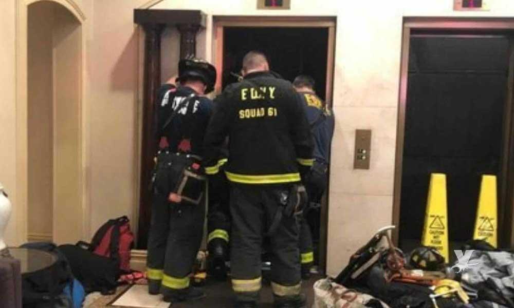 (VIDEO) Hombre murió prensado entre un elevador y el suelo