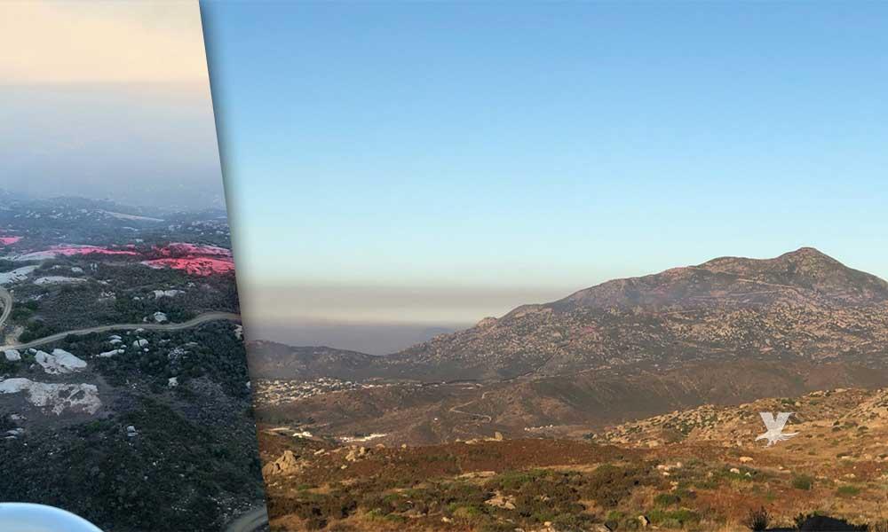 Incendio cerca de la frontera en Tecate se encuentra contenido: autoridades