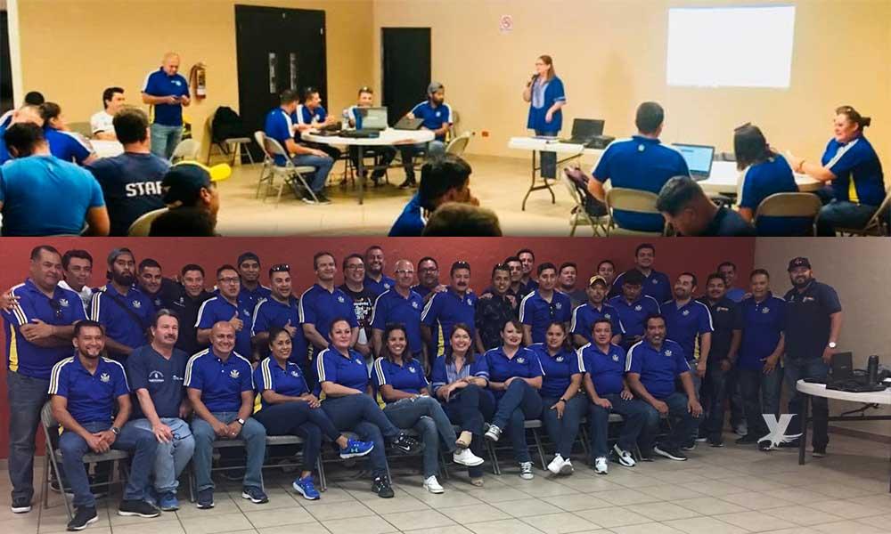 Docentes de educación física presentes en la primera reunión informativa y de organización en Tecate