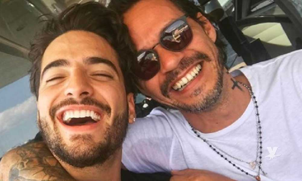 (VIDEO) Maluma y Marc Anthony son criticados por besarse