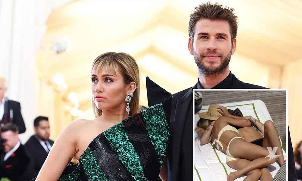 (FOTOS) Miley Cyrus deja a su marido Liam Hemsworth por otra mujer