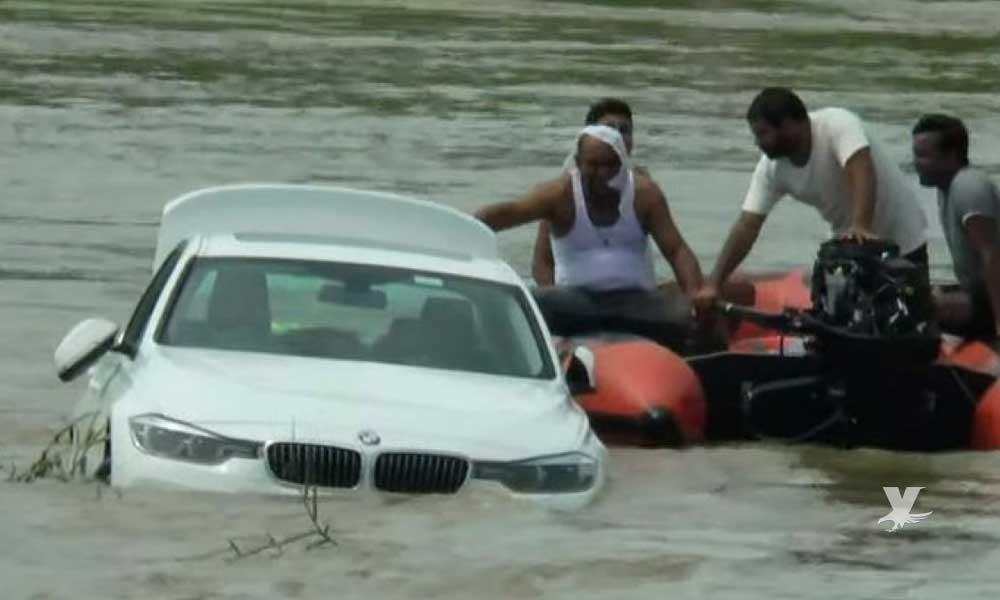 (VIDEO) Padres le regalan un BMW en su cumpleaños y él lo tira a un río porque quería un Jaguar