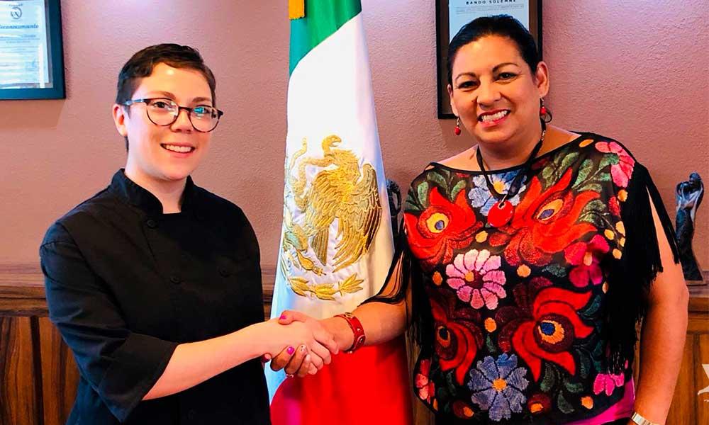 Andrea Zeckua, Chef Tecatense seleccionada para ir a Mónaco