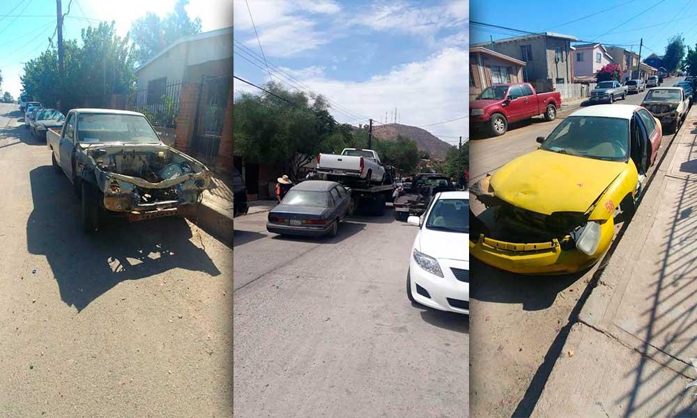 Se han retirado de la vía pública 243 vehículos en estado de abandono en Tecate
