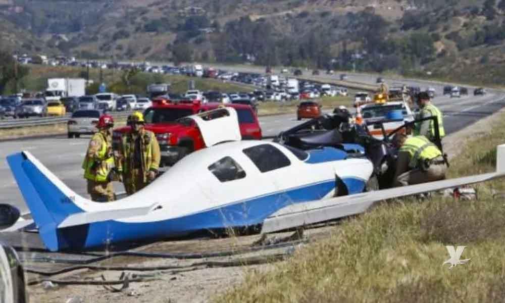 Mueren dos personas en avioneta que cayó camino a San Diego