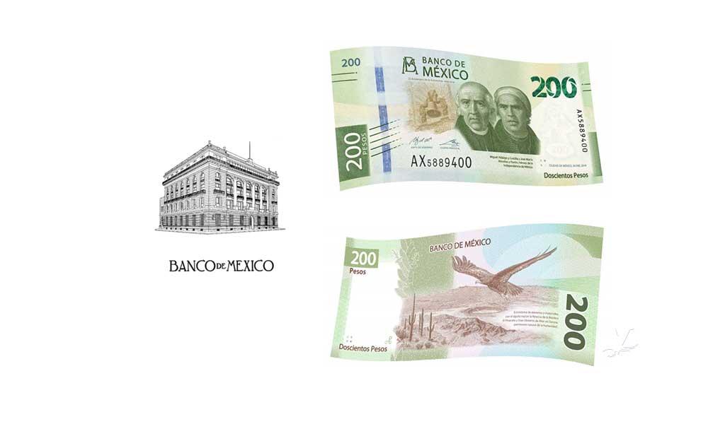 En circulación nuevo billete de 200 pesos