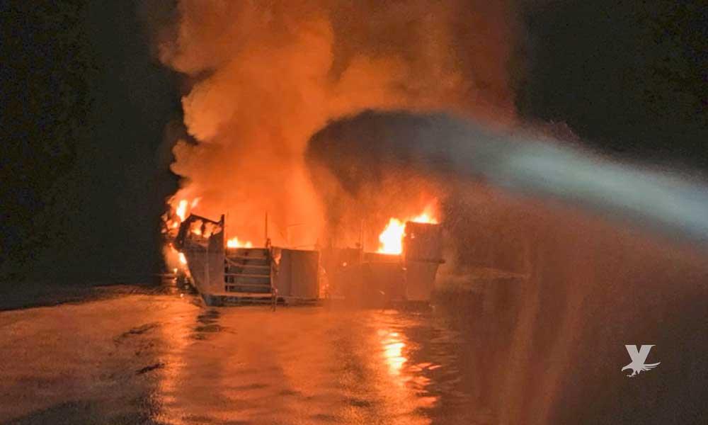 Reportan incendio en bote en bahía de San Diego