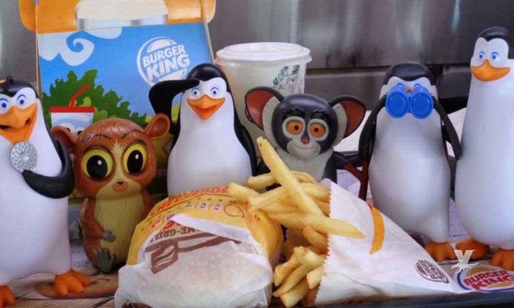 Retirará Burger King los juguetes del menú infantil