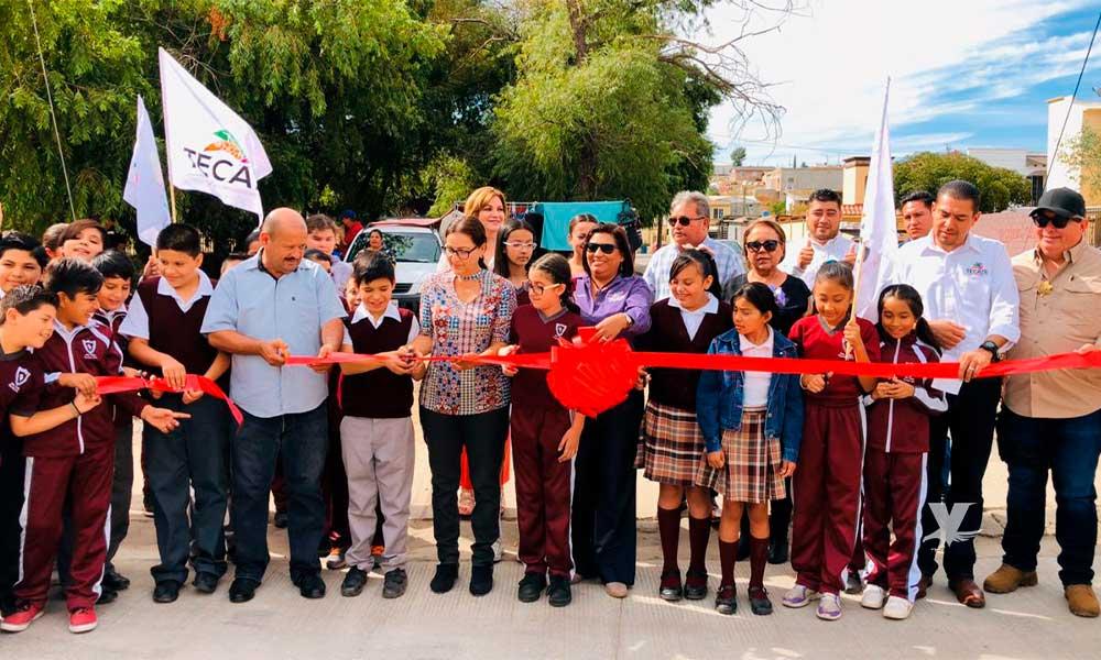Entrega Ayuntamiento de Tecate obras de rehabilitación de calles en Santa Anita