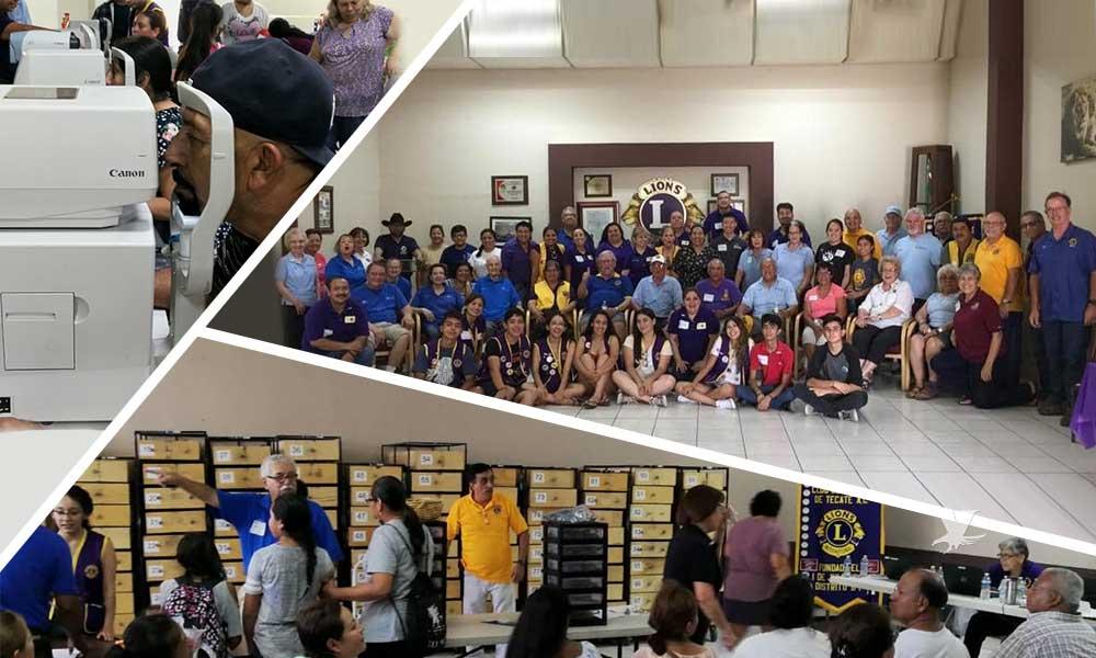"""Más de 649 personas atendidas en la Jornada de la Vista del Club de Leones """"La Vista Primero"""" en Tecate"""