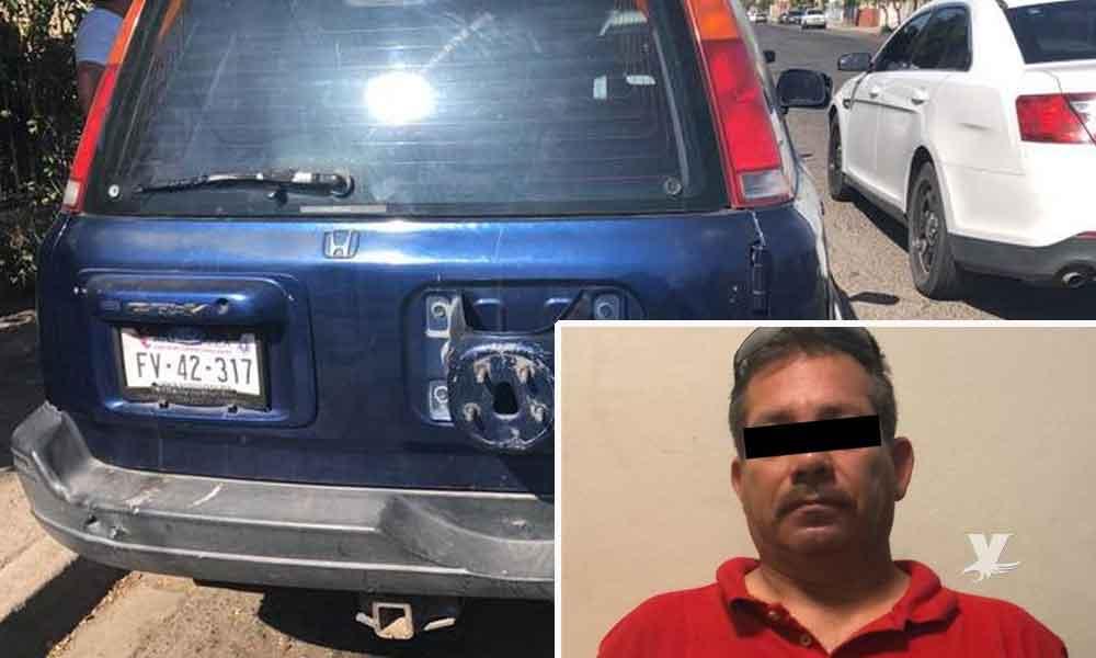 Sujeto es detenido por robar vehículo en SLRC y querer venderlo en Mexicali