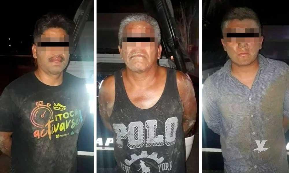 Detienen a 3 empleados del IMSS que secuestraron a una mujer para violarla