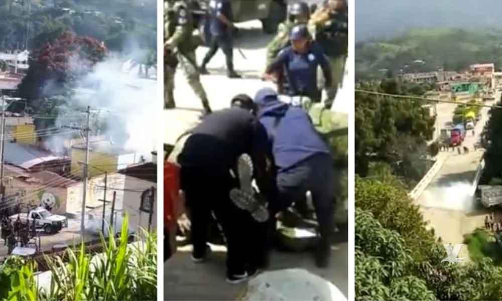 (VIDEO) Guardia Nacional es atacada a balazos por grupo armado, militar es herido de gravedad