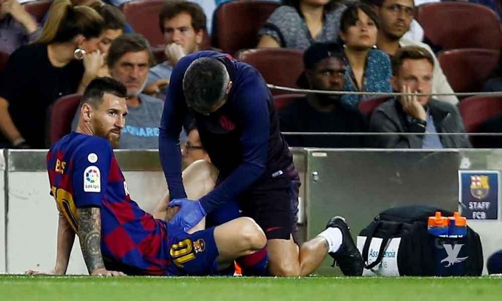 Messi vuelve a lesionarse, ahora en el partido frente al Villarreal