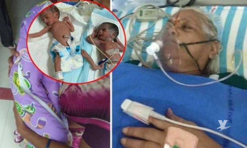 Mujer de 73 años de edad da a luz a gemelas