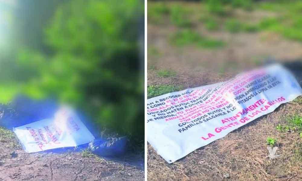 Arrojan dos cuerpos 'encobijados' y desmembrados con narcomensaje