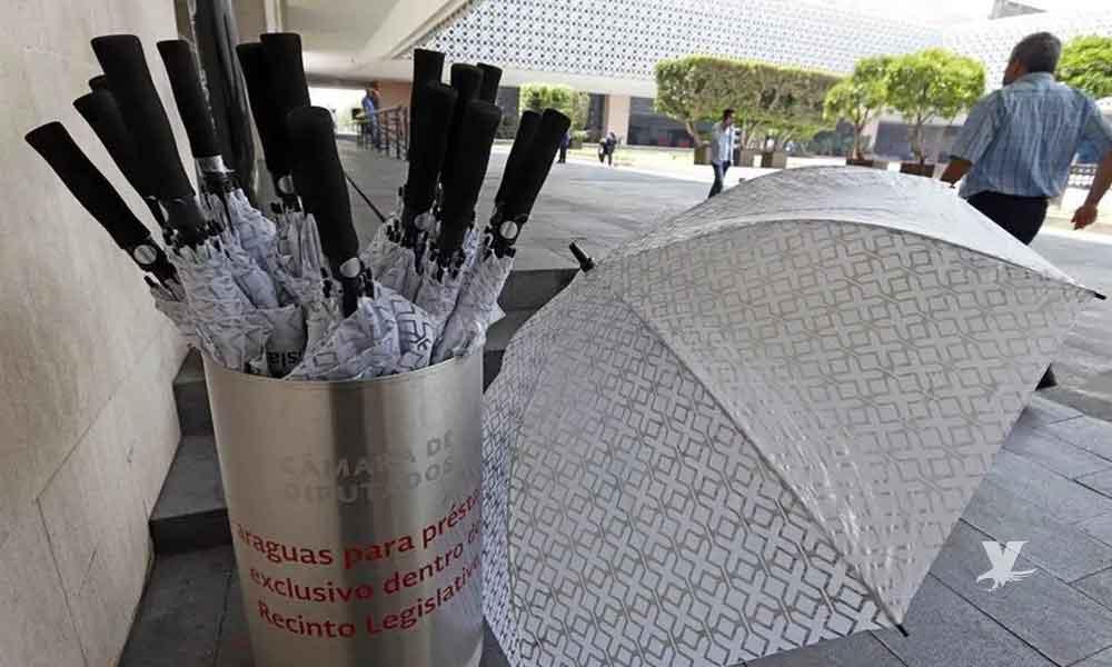 Diputados autorizan comprar paraguas con costo de 264 mil pesos