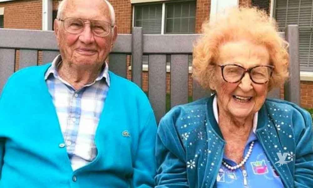 Pareja de abuelitos se casan a los 100 y 102 años de edad