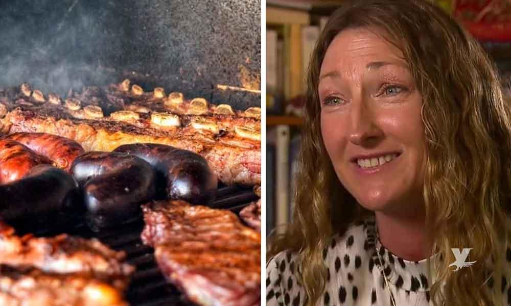 Mujer vegana demanda a vecinos porque el olor de sus carnes asadas llega hasta su casa