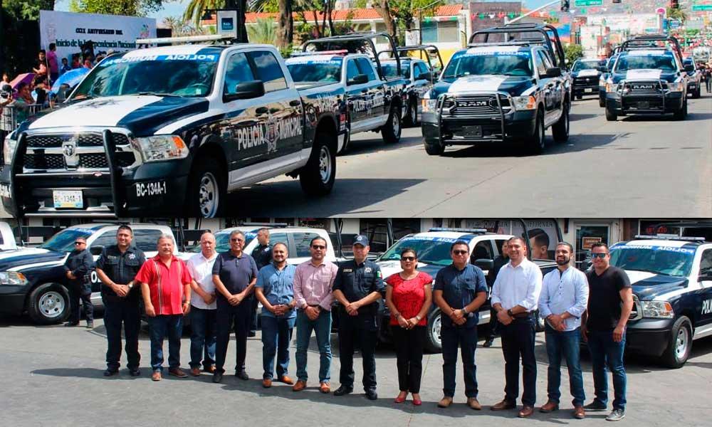 Entregan 8 patrullas a la Policía Municipal de Tecate