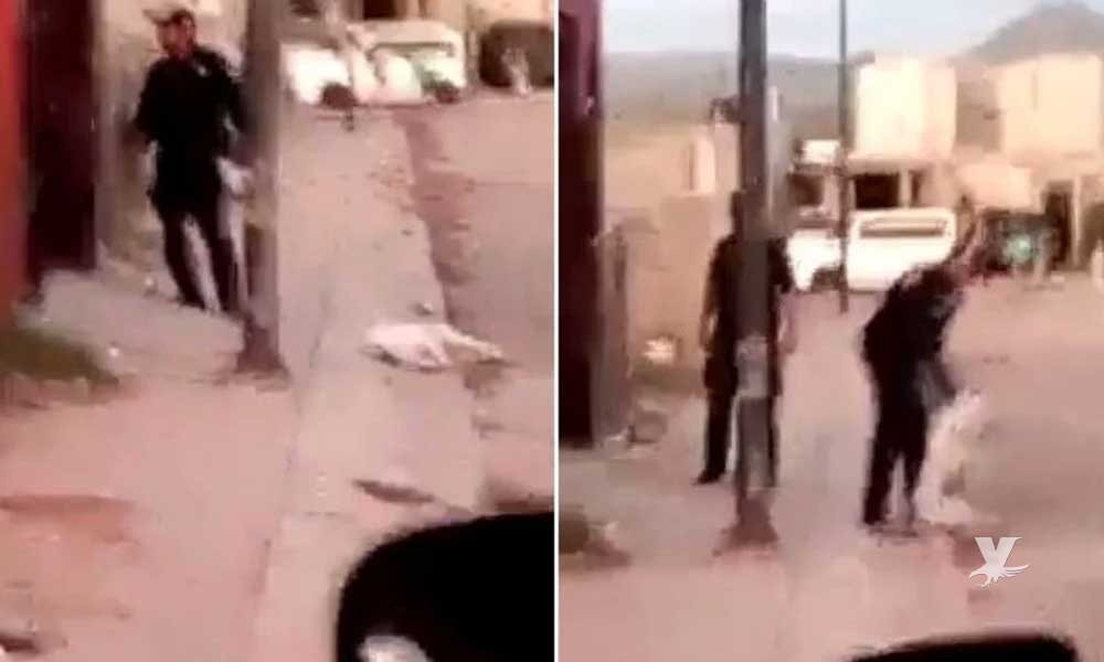 Policía mata a balazos a perro pitbull que lo mordió mientras intentaba detener a un hombre