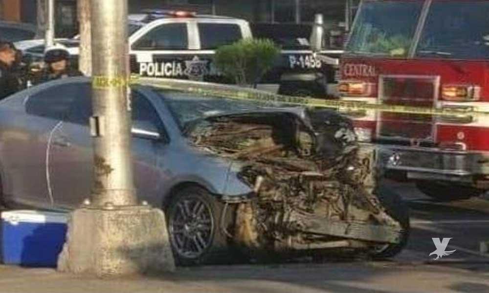Policía Municipal de Tijuana fallece en aparatoso accidente