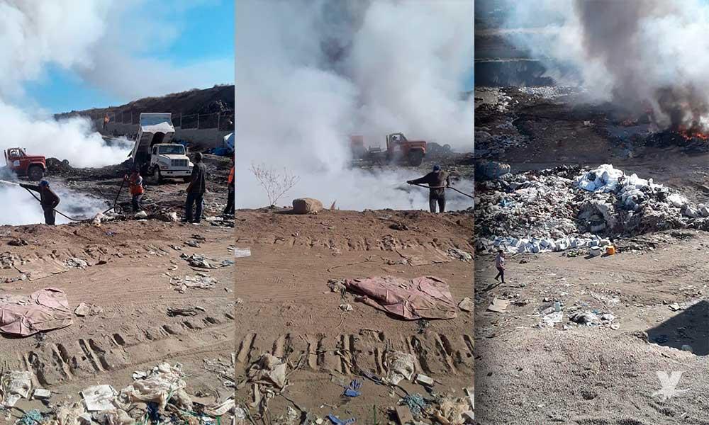 Bomberos de Tecate sofocan incendio en Relleno Sanitario