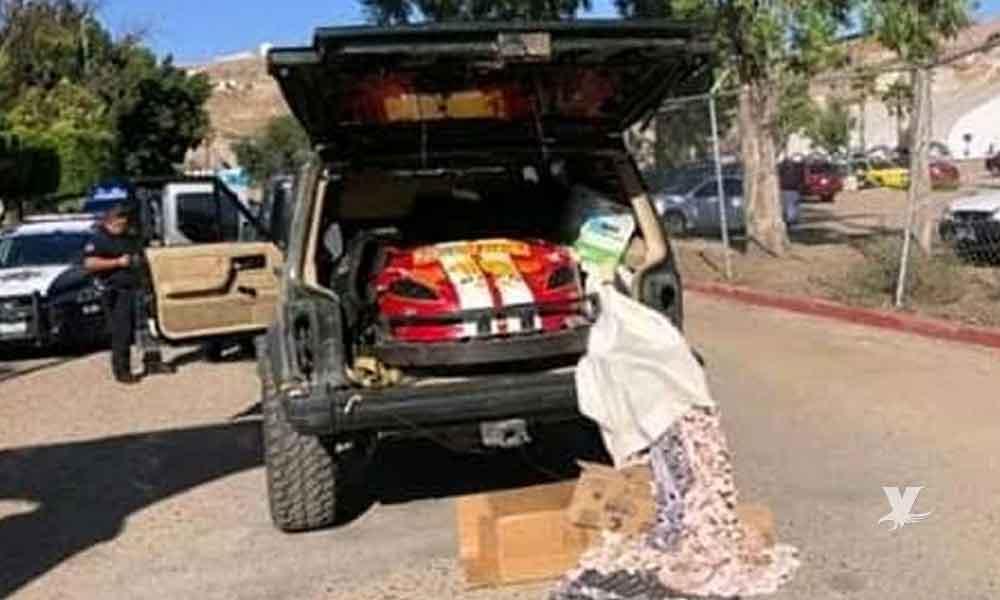 Detienen a policía mientras robaba un Go-Kart del parque Morelos en Tijuana