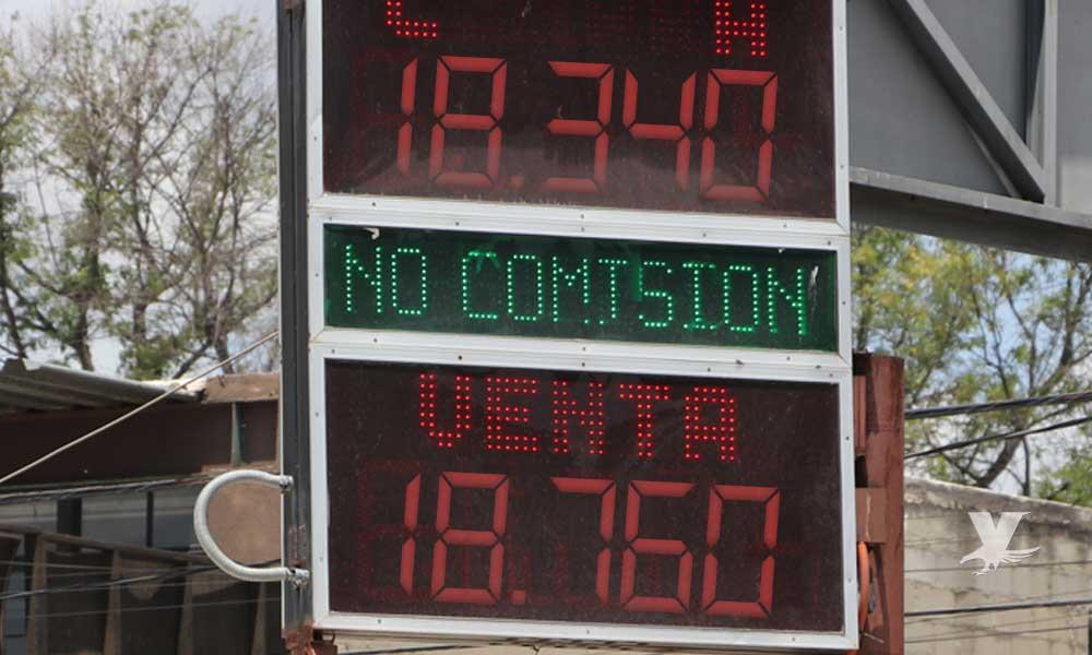 Precio promedio del dólar en Tecate y bancos