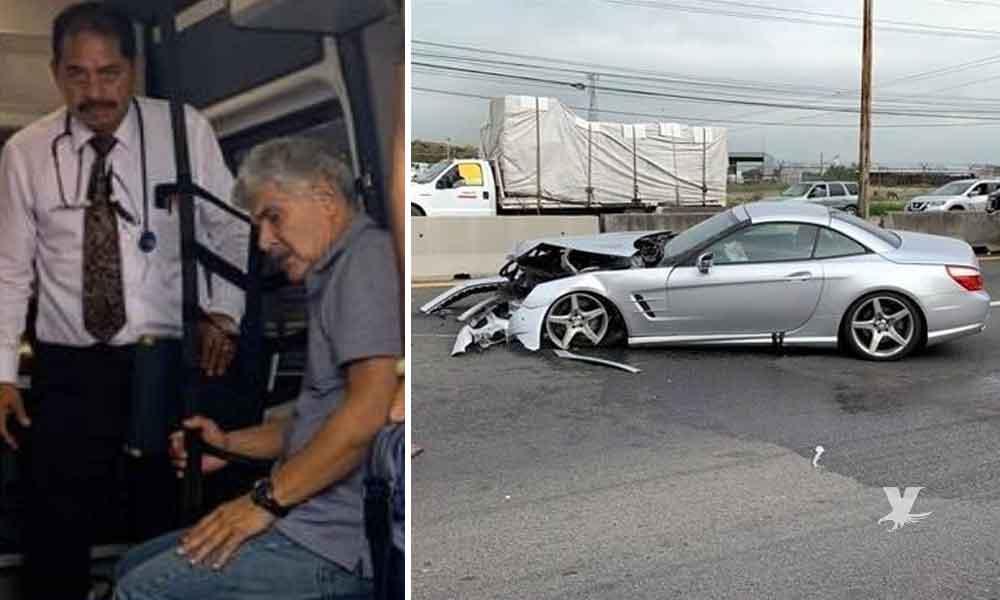 'Tuca' Ferretti sufre fuerte accidente en la carretera