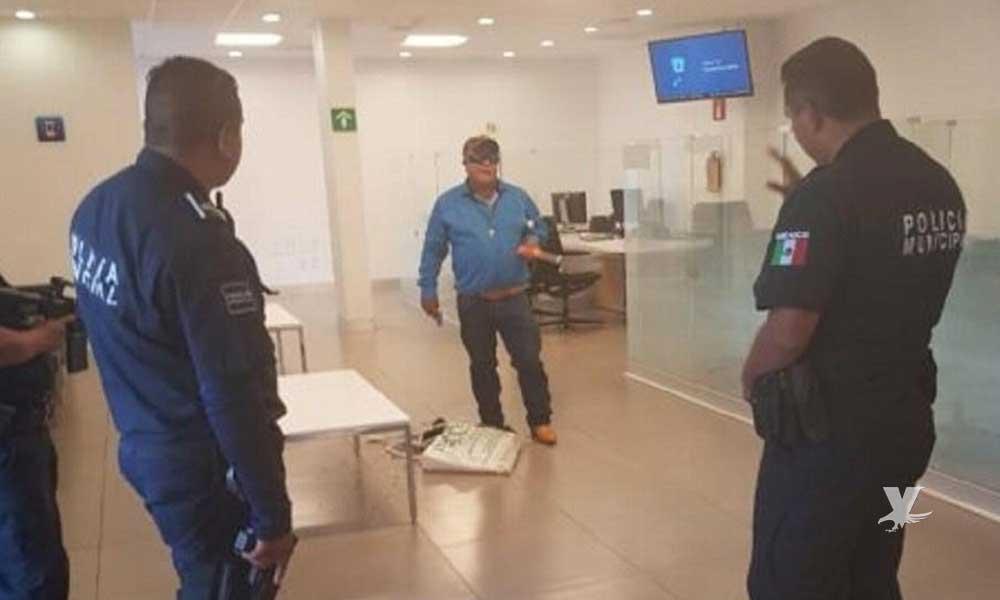 Hombre intenta asaltar banco en Pachuca y es abatido