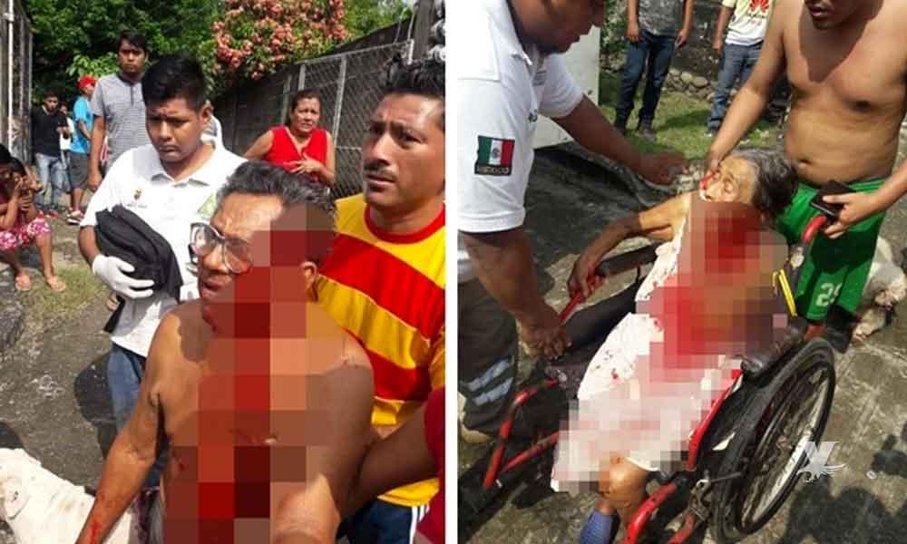 Hombre ataca y lesiona a sus abuelos con un machete por que no le querían dar dinero